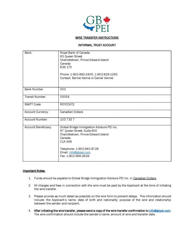 GB PEI Informal Trust Account